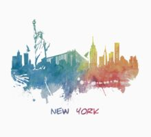 New York City skyline colored Kids Clothes