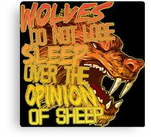 The Opinion of Sheep Canvas Print