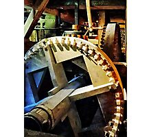 Gears in Grist Mill Photographic Print