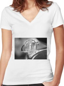 Plymouth hood ornament Women's Fitted V-Neck T-Shirt