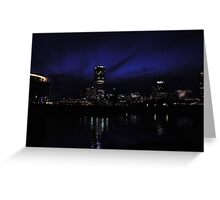 cool blue evening Greeting Card