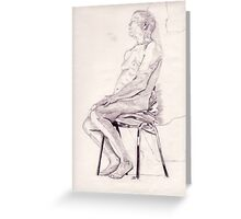 Life Drawing Greeting Card