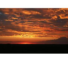 Prairie sunset Photographic Print