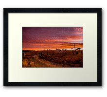 Sunset, Hill End Framed Print
