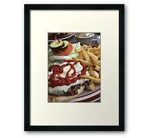 Bacon Cheeseburger  Framed Print