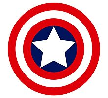 captain´s america logo Photographic Print