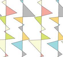 Retro Triangles Sticker