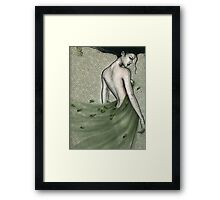 she brought the wind and dreamed in silence... Framed Print