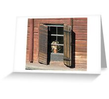 Old window Greeting Card