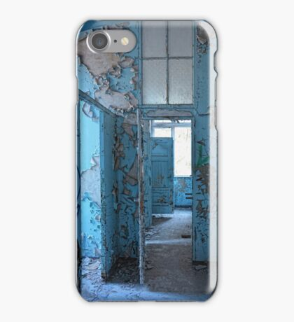 empty blue rooms iPhone Case/Skin