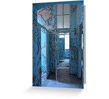 empty blue rooms Greeting Card