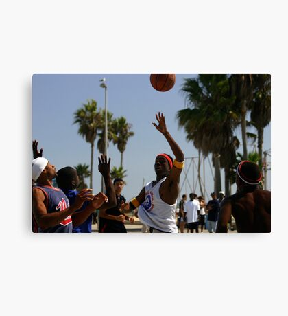 HOOPS IN VENICE 1 Canvas Print