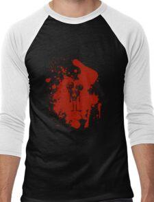 2-headed skeleton kid in red Men's Baseball ¾ T-Shirt