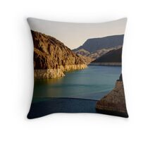 River of Energy Throw Pillow