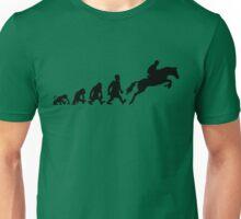 Show jumping evolution darwin horse  Unisex T-Shirt