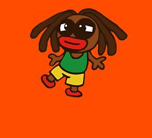 cartoon rasta reggae afro boy Unisex T-Shirt