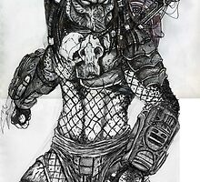 Predator Sketch by Andrew Pearce