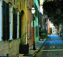 Back Street in Charleston by Rodney Lee Williams