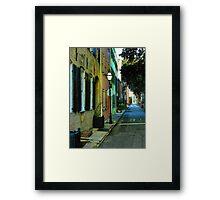 Back Street in Charleston Framed Print