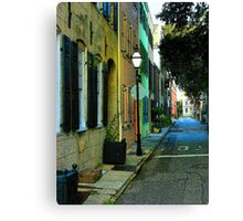 Back Street in Charleston Canvas Print