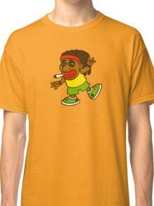 cartoon rasta reggae afro boy Classic T-Shirt