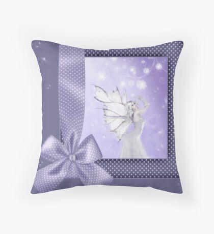 The Bow Fairy Throw Pillow