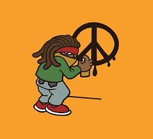 cartoon rasta reggae peace and love Unisex T-Shirt