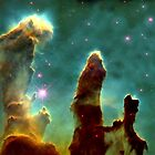 Space art - Pillars of creation by Maria Mazhirina