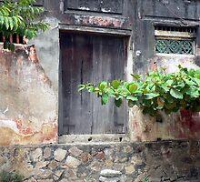 Old door in Hoi An, Vietnam by John Mitchell