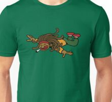 cartoon rasta reggae fly hight Unisex T-Shirt