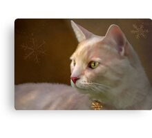 Charmed ... Tabby Cat Portrait Metal Print