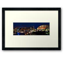 Newcastle Quayside Panorama Framed Print