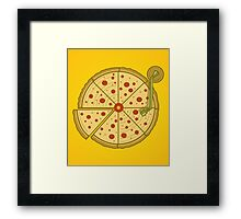 Pizza Vinyl Framed Print