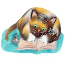 Kitty and Mice are Bookworms by NineLivesStudio