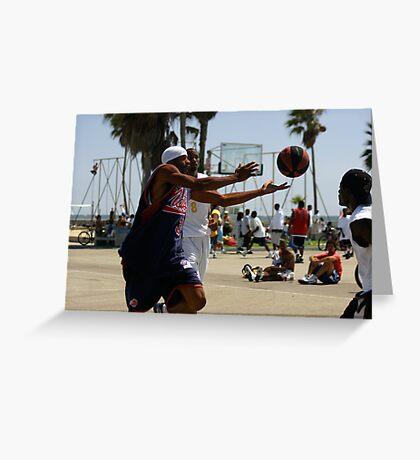 HOOPS IN VENICE 9 Greeting Card