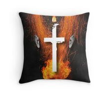 Portrait of a virtual mind. Dan Cathy. Throw Pillow