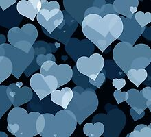 Navy Valentine Hearts by FantasyDesign