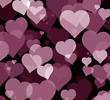 Purple Valentine Hearts by FantasyDesign