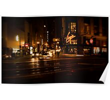 Union Square at Night Poster