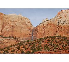 Zion National Park Scenic View Photographic Print