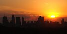 Sunset over Melbourne 4 by Paige