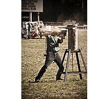 Chainsaw Challenge Photographic Print