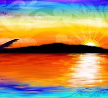 Kapiti Island Sunset by Revolution Aotearoa
