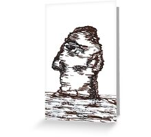 Lone Moon Head Greeting Card