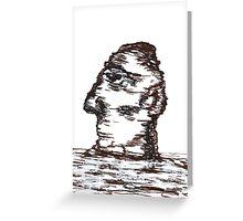 Lone Moon Head Greeting Card