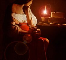 Mary Magdalin Remembering Jesus. by Andrew Nawroski