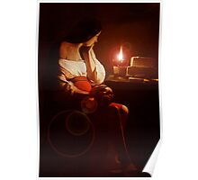 Mary Magdalin Remembering Jesus. Poster