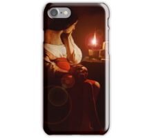 Mary Magdalin Remembering Jesus. iPhone Case/Skin