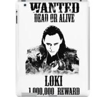 Wanted Loki iPad Case/Skin