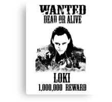 Wanted Loki Canvas Print